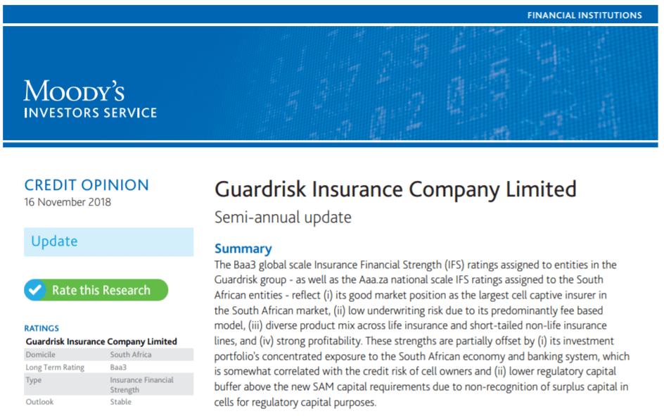 Обзор Unilife Insurance - рейтинг Guardrisk Insurance Company обеспечивает надежность страхования